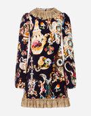 Dolce & Gabbana PRINTED VELVET DRESS