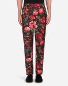 PAJAMA PANTS IN PRINTED SILK