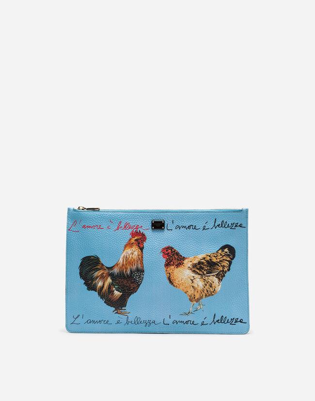 Dolce&Gabbana PRINTED DRUMMED CALFSKIN BAG