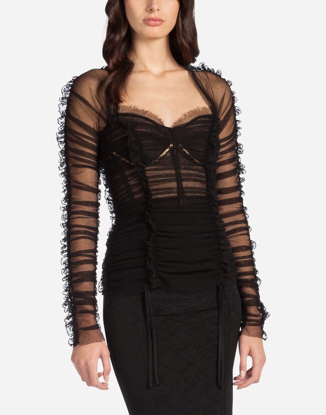TULLE BUSTIER TOP