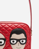 Dolce&Gabbana LEATHER GLAM BAG WITH PATCHES OF THE DESIGNERS