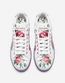 PRINTED CALFSKIN PORTOFINO SNEAKERS WITH APPLIQUÉ