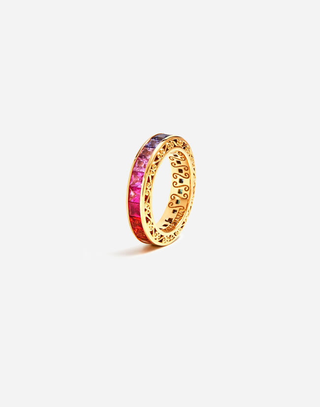 Dolce & Gabbana MULTICOLOR SAPPHIRE WEDDING RING FROM THE RAINBOW COLLECTION