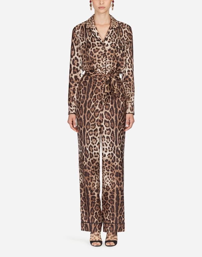 Dolce & Gabbana PAJAMA JUMPSUIT IN SILK TWILL