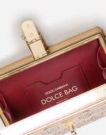 DOLCE BOX CLUTCH IN PRINTED LEATHER