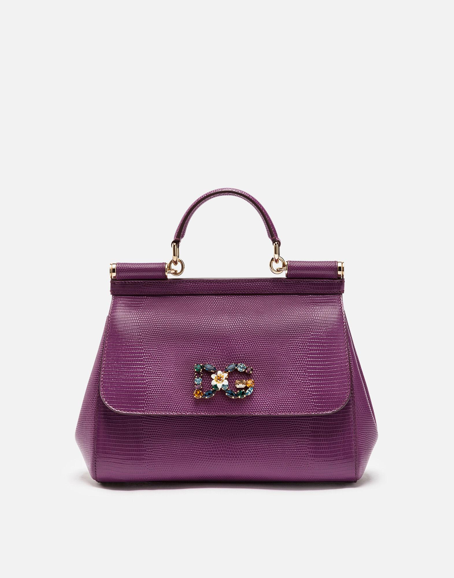 Top Handle Handbag On Sale, Royal Blue, Leather, 2017, one size Dolce & Gabbana