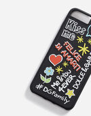 Dolce&Gabbana IPHONE 7/8 PLUS COVER WITH RUBBER MURAL DETAIL