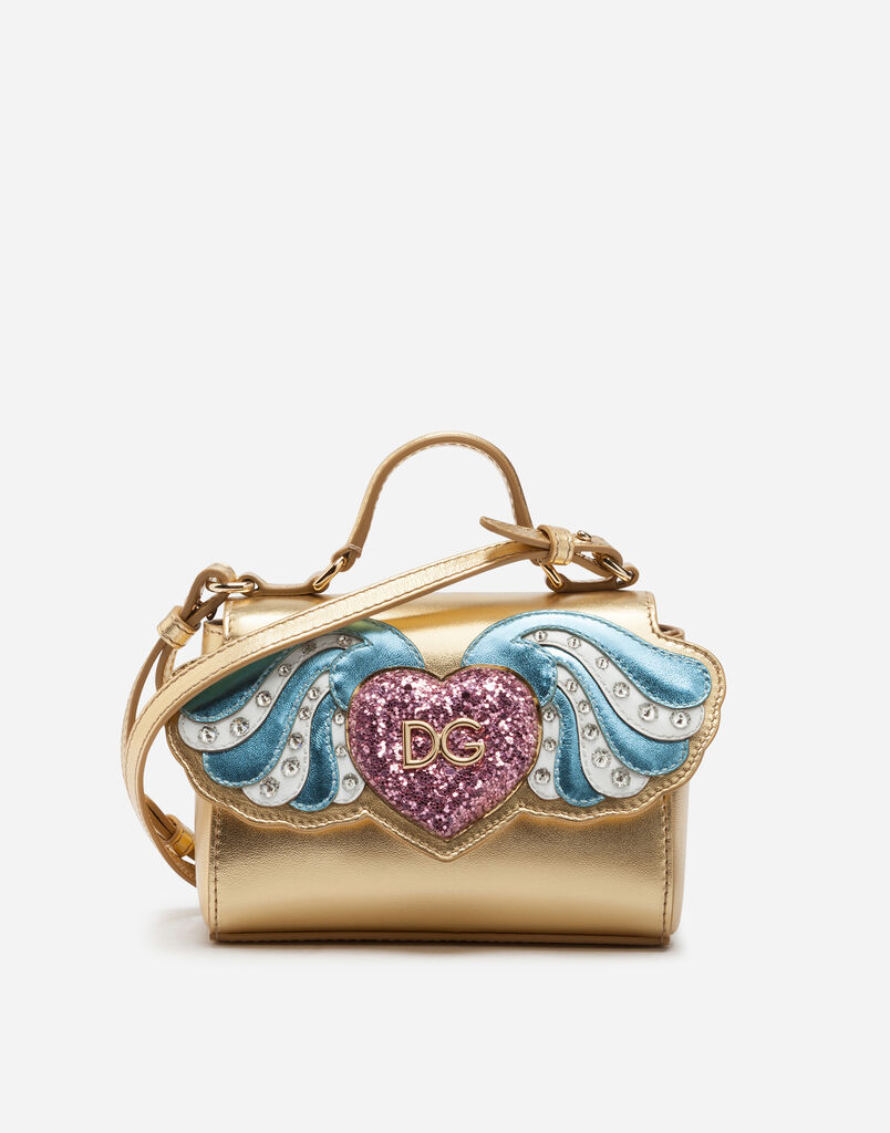 Dolce&Gabbana CROSS-BODY BAG WITH WINGS PATCH