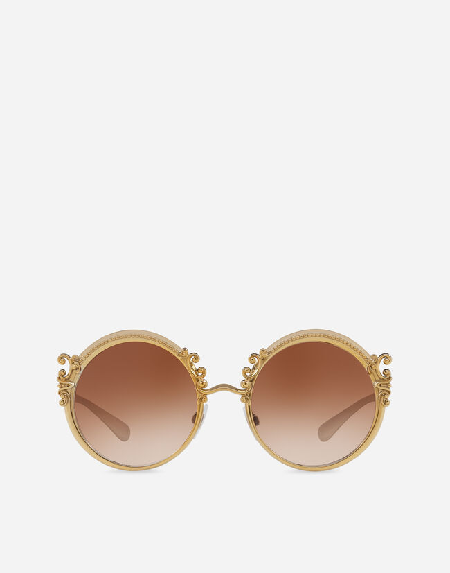 Dolce & Gabbana METAL SUNGLASSES WITH BAROQUE DETAILING