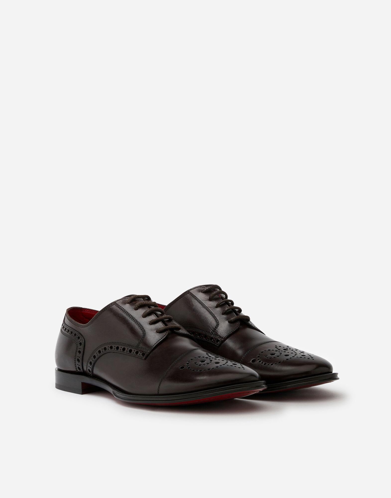 Derby Full Brogue In Vitello Scarpe Uomo | Dolce&Gabbana