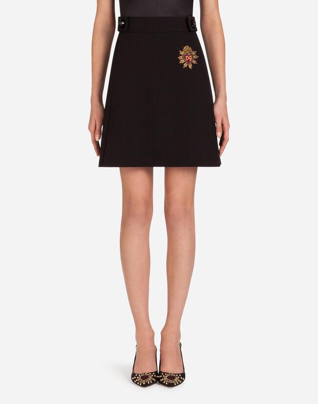 Dolce & Gabbana A-LINE SKIRT IN GABARDINE