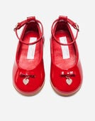 PATENT LEATHER KID'S FIRST STEPS BALLET FLATS WITH BOW DETAIL