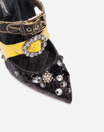 SEQUINED PUMPS WITH CRYSTALS
