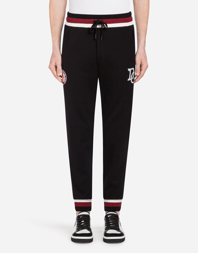 Dolce & Gabbana COTTON JOGGING PANTS WITH PATCH