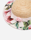 STRAW HAT WITH PRINT