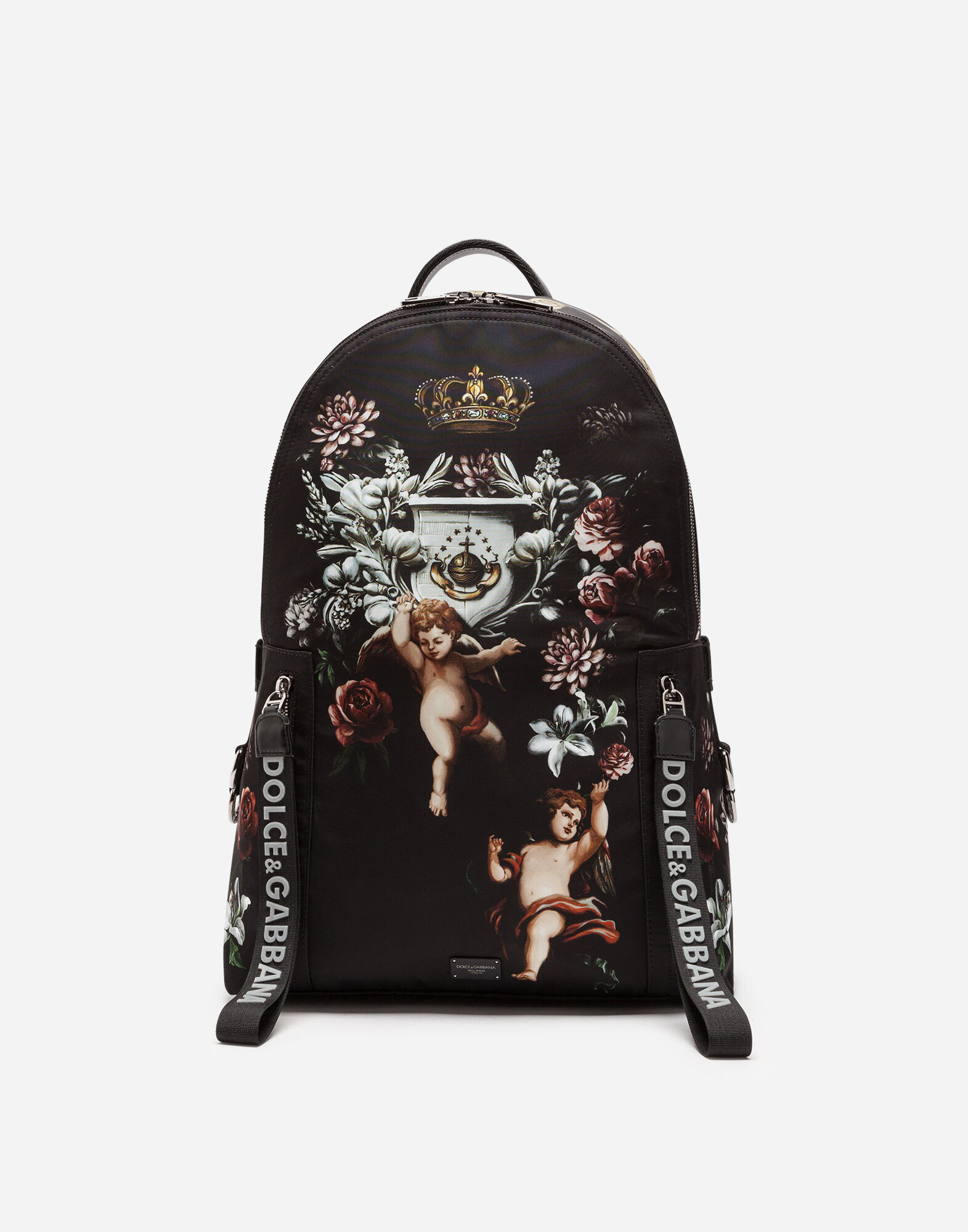 12423e31b893 Dolce gabbana printed nylon backpack jpg 804x1024 White nylon backpacks