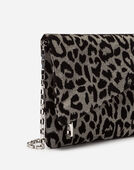 Dolce&Gabbana DG GIRLS CLUTCH IN LUREX JACQUARD FABRIC AND LEOPARD-PRINT VELVET