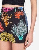 SHORTS IN PRINTED COTTON DRILL