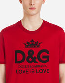 Dolce&Gabbana COTTON T-SHIRT WITH D&G PRINT