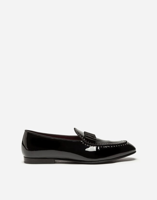 TUXEDO LOAFERS IN PATENT LEATHER
