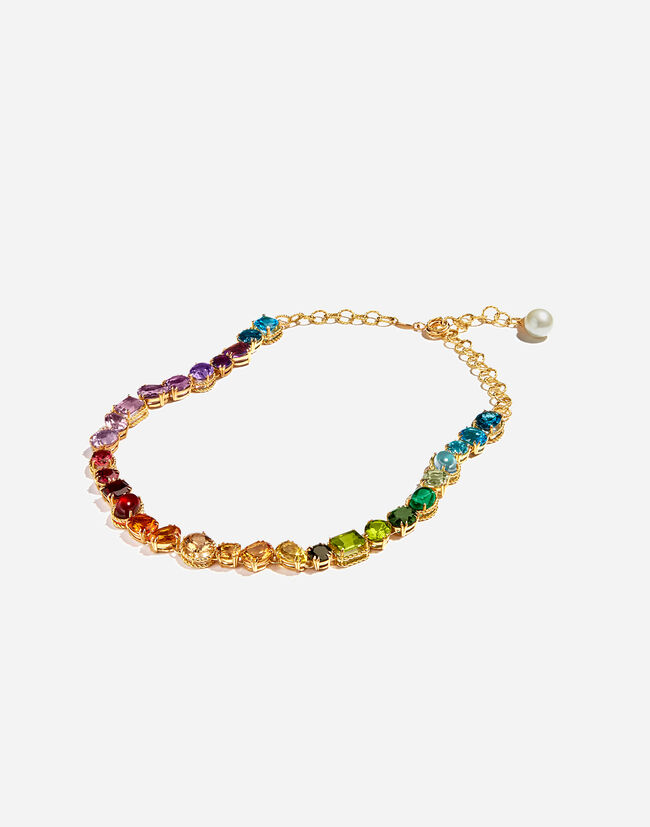 Dolce & Gabbana NECKLACE WITH MULTI-COLORED GEMS FROM THE RAINBOW COLLECTION