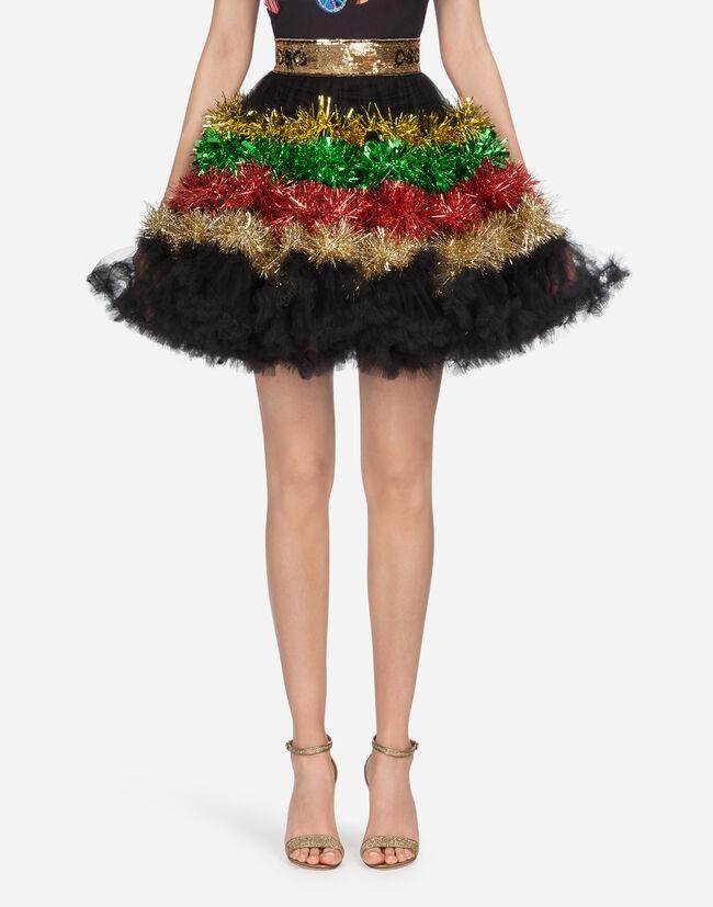 Dolce & Gabbana FLOUNCE SKIRT IN TULLE