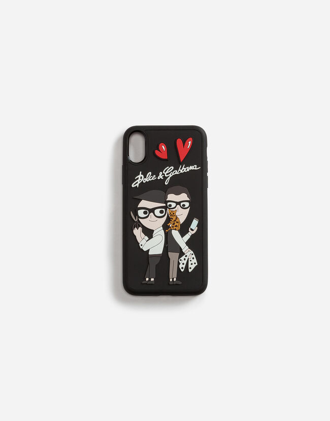 Dolce&Gabbana IPHONE X COVER WITH RUBBER PATCHES OF THE DESIGNERS
