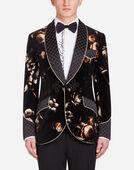 Dolce & Gabbana SMOKING JACKET IN PRINTED VELVET