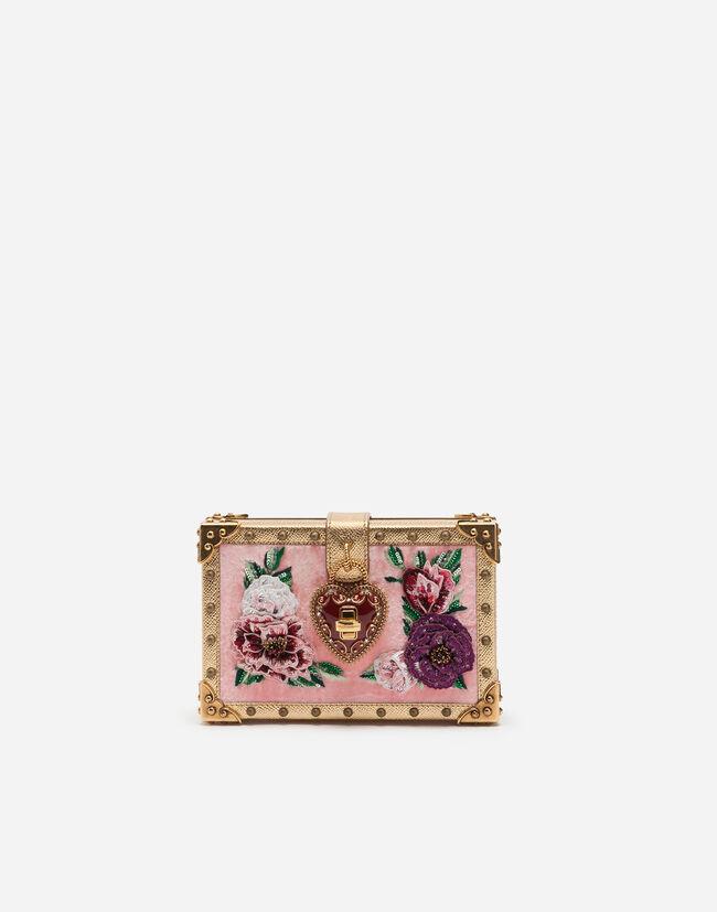 e4d2e6c39c17 Клатч My Heart из бархата - Женские сумки | Dolce&Gabbana