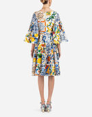 Dolce & Gabbana MAJOLICA-PRINT COTTON DRESS