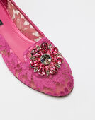 Dolce&Gabbana SLIPPER IN TAORMINA LACE WITH CRYSTALS