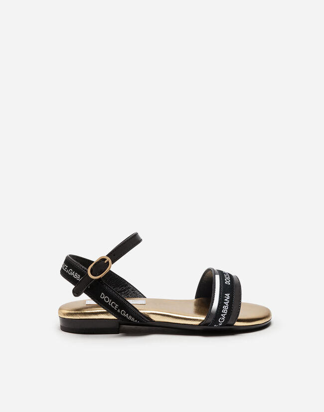 Dolce & Gabbana LEATHER SANDALS WITH LOGO