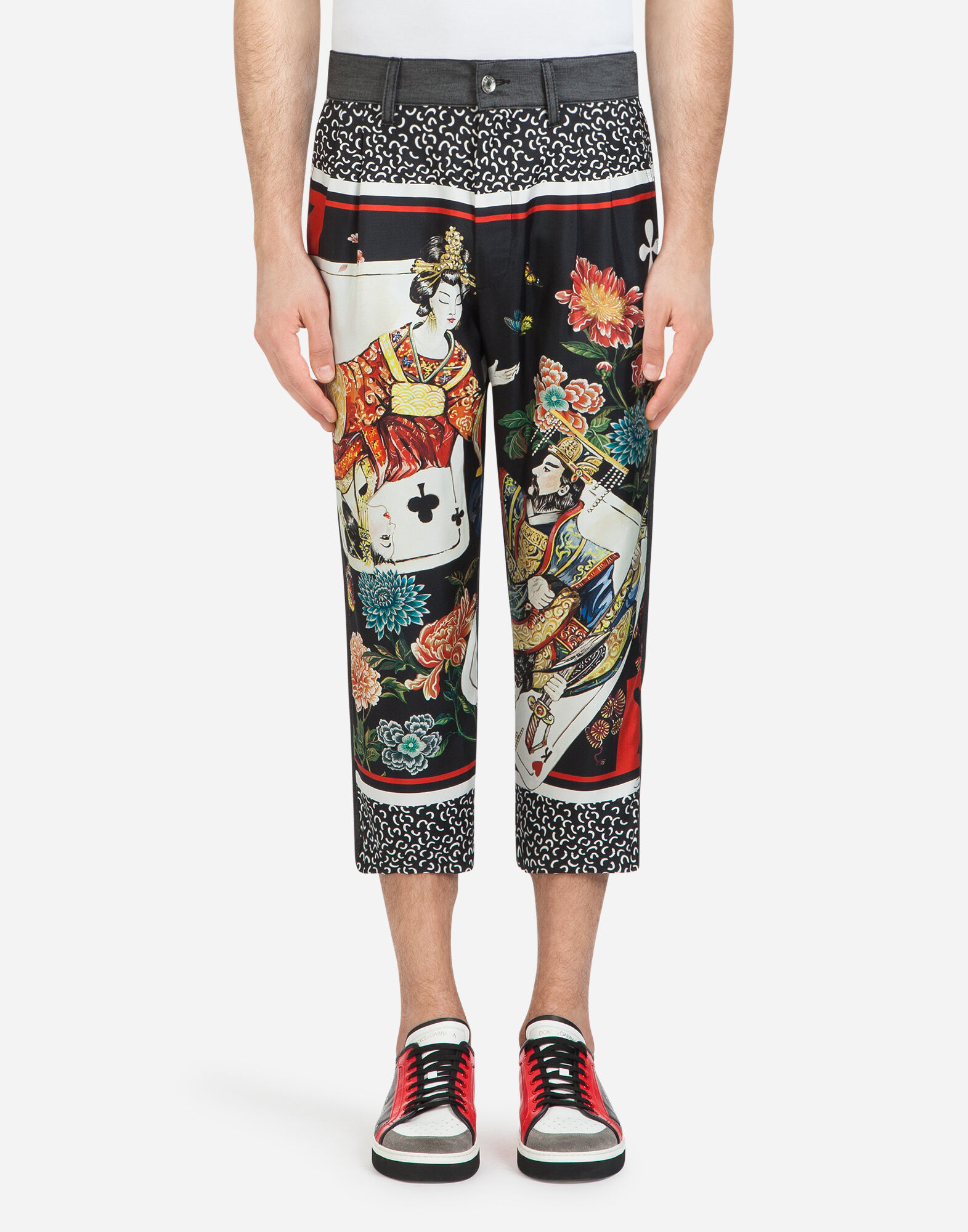 OVERSIZED FIT JEANS WITH SILK INSERTS