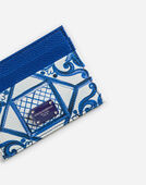 PRINTED DAUPHINE CALFSKIN CARD HOLDER