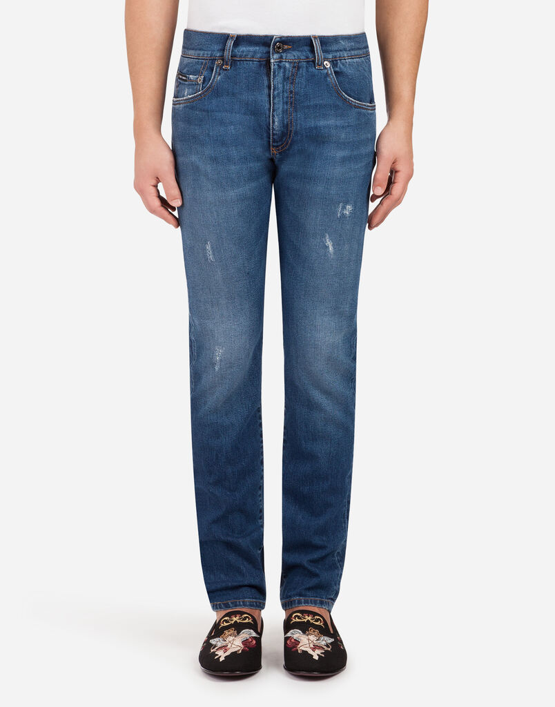 Dolce&Gabbana GOLD FIT STRETCH JEANS WITH PATCH