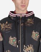 Dolce & Gabbana PRINTED NYLON JACKET WITH HOOD