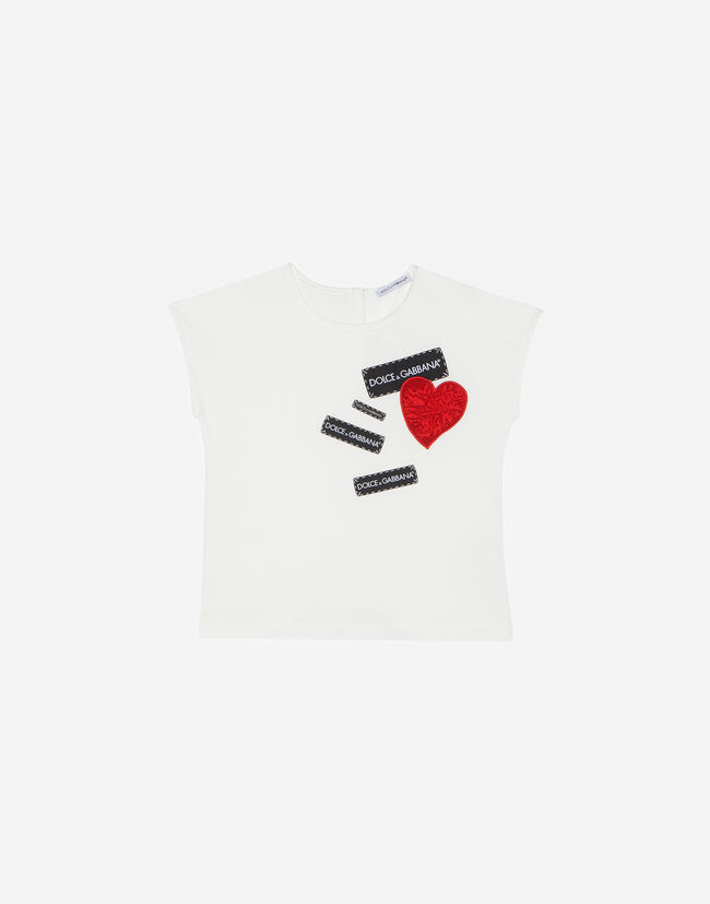 Dolce&Gabbana COTTON T-SHIRT WITH PATCHES