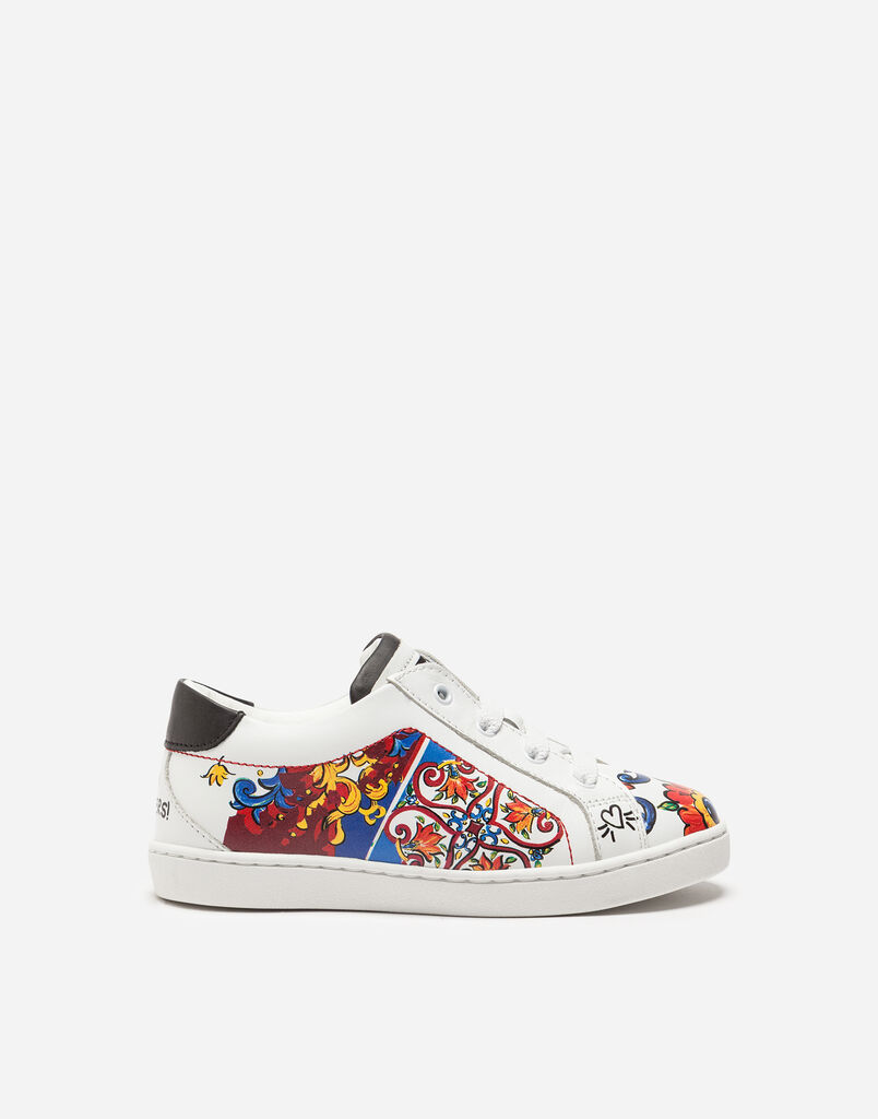 Dolce&Gabbana PRINTED LEATHER SNEAKERS