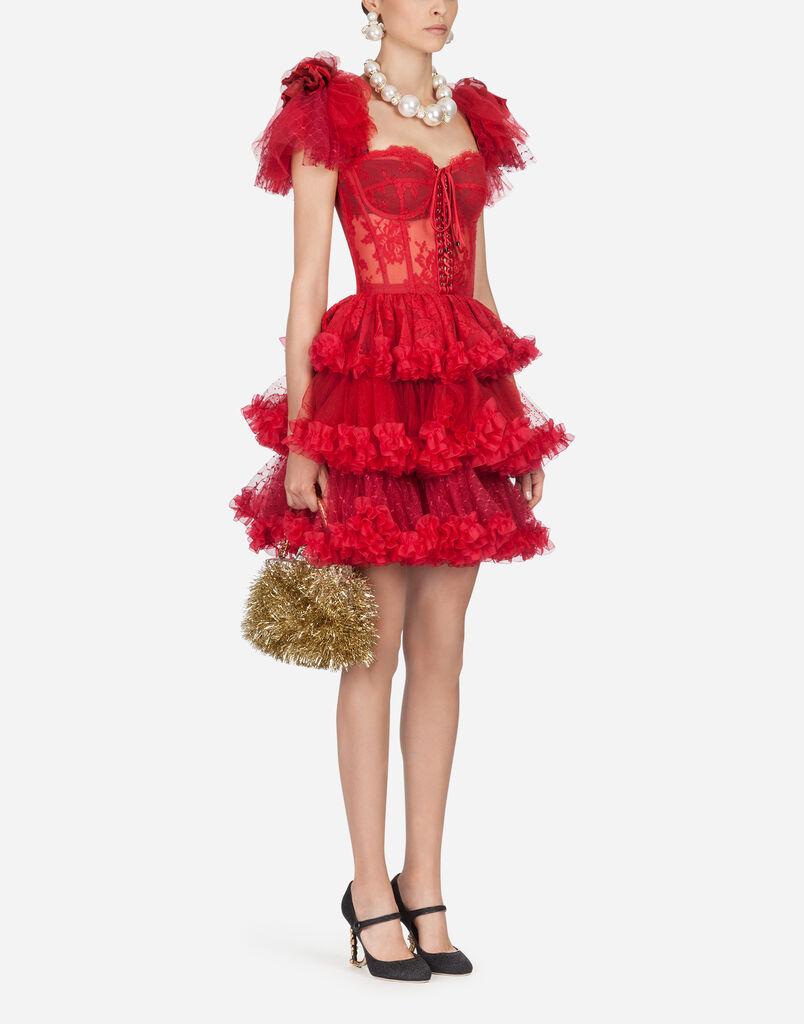 Dolce Gabbana Short Flounce Dress