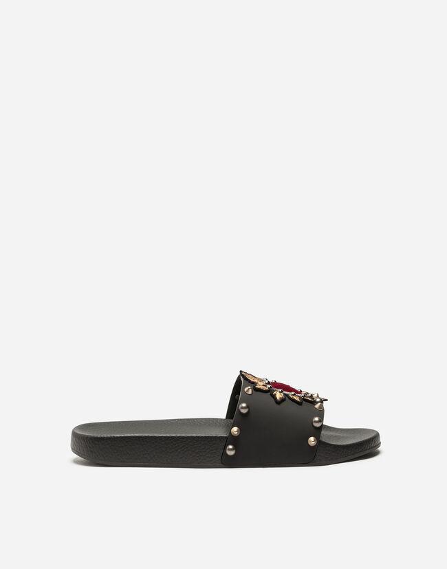 5eefb71765 Slippers Parche Corazón - Sandalias y slides Hombre | Dolce&Gabbana