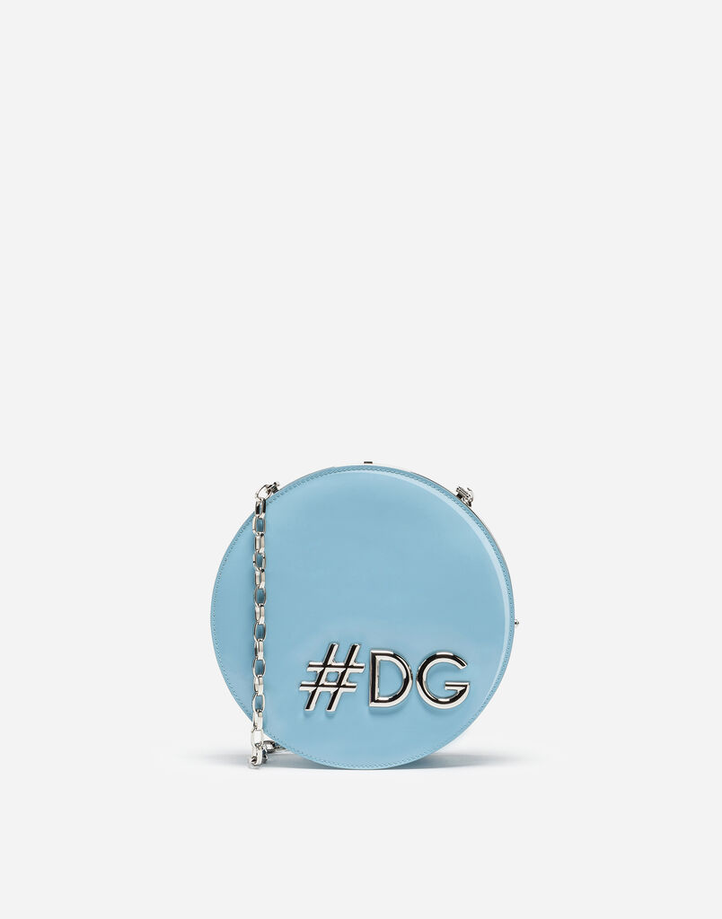 DG GIRLS ROUND CROSS-BODY BAG IN PATENT LEATHER