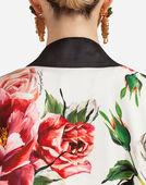 Dolce&Gabbana PEONY-PRINT SILK KIMONO