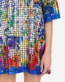 MOSAIC DRESS WITH SEQUINED MAJOLICA DETAIL