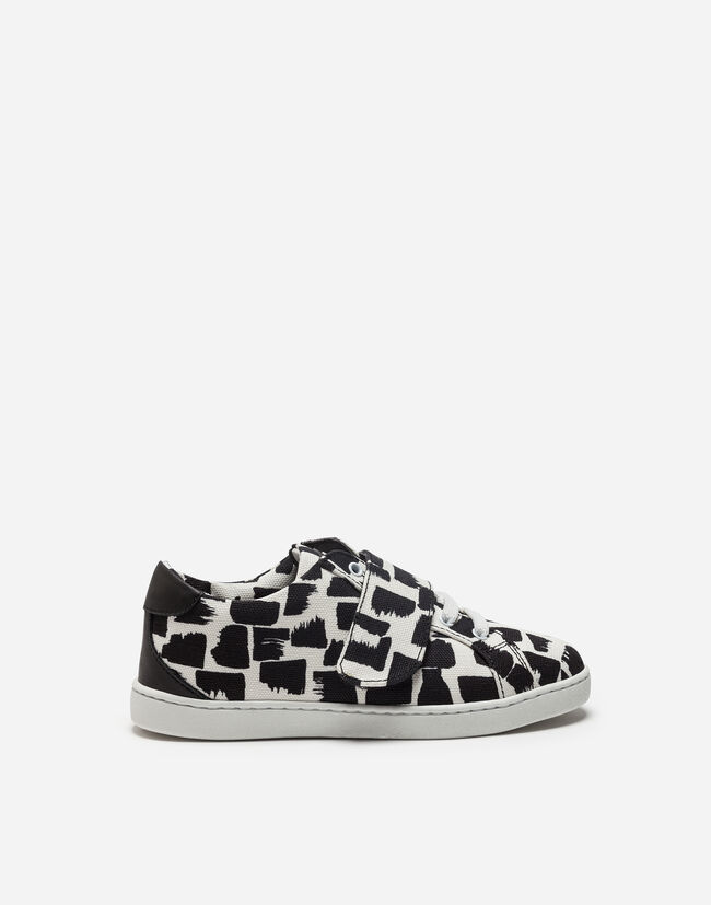 SNEAKERS IN PRINTED COTTON