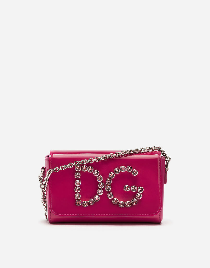Dolce&Gabbana PATENT LEATHER SHOULDER BAG