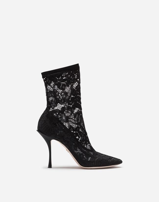 ef6fd6c616872 Botas y Botines de Mujer   Dolce Gabbana - BOTÍN DE ENCAJE ELÁSTICO ...