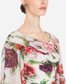 Dolce&Gabbana PEONY-PRINT SILK DRESS