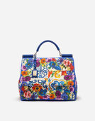 SICILY SOFT BAG IN MAJOLICA-PRINT CANVAS