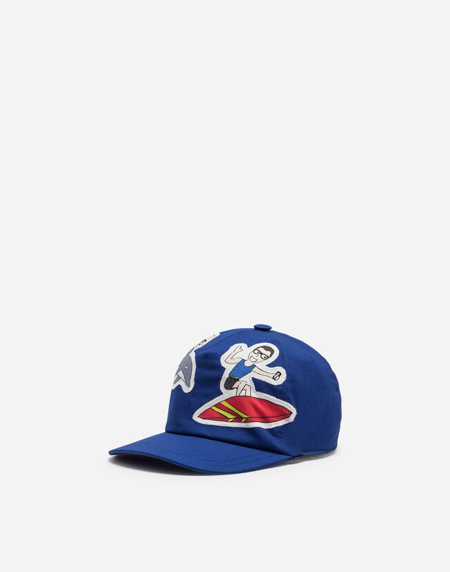 CANVAS BASEBALL CAP WITH PATCHES