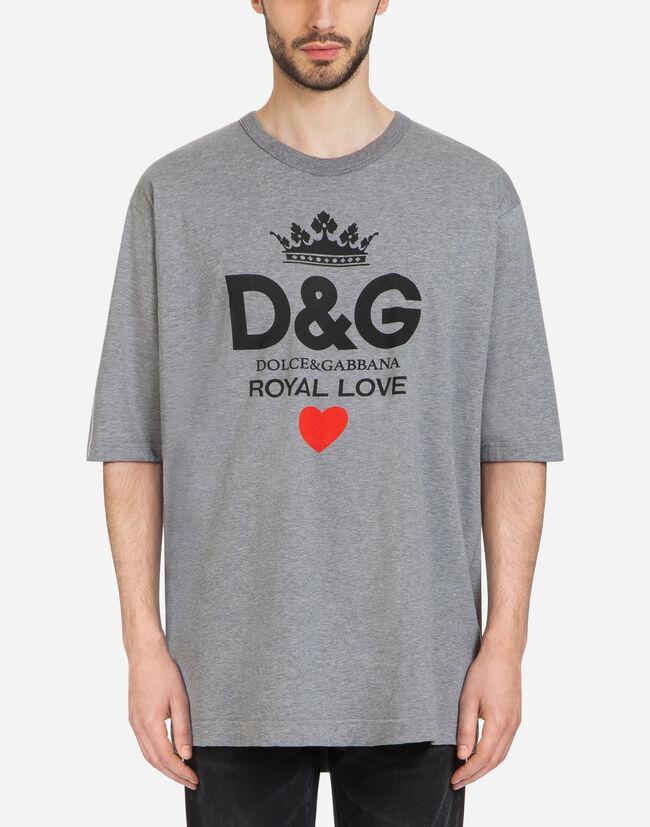 Camisetas y Polos Hombre   Dolce Gabbana - CAMISETA DE ALGODÓN CON  ESTAMPADO D G 4a065bb67a